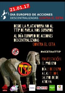 Parla ¡Sal a la calle y di NO a los tratados que empobrecen!