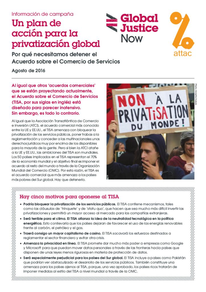 Un plan de acción para la privatización global.